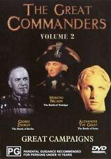 Great Commanders  Vol 2 ~ Alexander The Great, Horatio Nelson, Georgi Zhukov Dvd