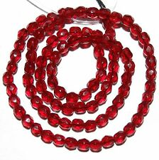 """CZ2137 Garnet Red 4mm Fire-Polished Faceted Round Czech Glass Beads 16"""""""
