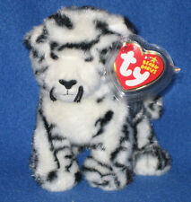 TY TUNDRA the WHITE TIGER BEANIE BABY - MINT with MINT TAGS