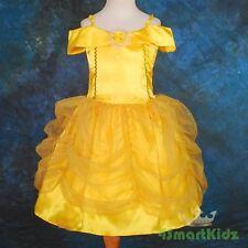 Girl Belle Princess Costume Party Halloween Fancy Dress Up Size 5 Golden
