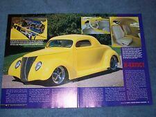 "1937 Ford Coupe Custom Street Rod Article ""X-Tatic"""