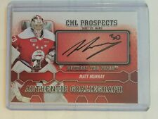 2012-13 Between The Pipes Matt Murray Auto GoaliGraph CHL Prospects ITG 12/13