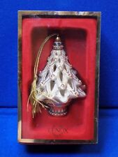 2003 Lenox China Holiday Christmas Tree Ornament Lighted Bulb Florentine Pearl