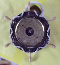 ANCIEN BAROMETRE ,BARRE A ROUE VINTAGE RETRO POUR DECO NAUTIQUES TBE 29,5cm