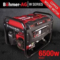 Portable Petrol Generator 6500w Bohmer Electric - 8HP 3.4KVA Quiet Camping Power