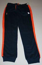 New OshKosh Boys Active Navy Blue Pants 12 year NWT Orange Striped Down Leg