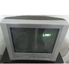 "Toshiba Model Mw20Fm1 20"" Crt Color Tv Dvd Vcr Retro Gaming Tv no remote"