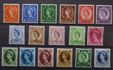 GB - 1952-54 MNH/MH Wilding 1/2d to 1/6 Set. SG515-531. Cat £100