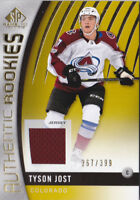 17-18 SP Game Used Tyson Jost /399 Jersey Rookie Avalanche 2017