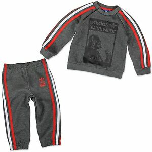 Adidas Children Star Wars Darth Vader Jogging Suit Sweatshirt Baby Trackies 80