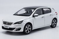 1/18 Scale Peugeot 308S 2015 White Diecast Car Model Toy Collection