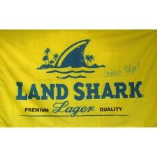 Land Shark flag with Rings Banner Sign Display 3' x 5' Fins Up Lager