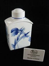HUTSCHENREUTHER Porzellan Bone China - Teedose 'Leonard blaue Blume' - neuwertig