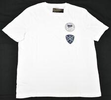 Sean John T-Shirt Men's Sz L Elevate Shield Pieced Graphic Tee White Urban N853