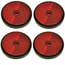 Rouge rond réflecteur arrière Pack de 4 pour les remorques clôture gate postes TR072