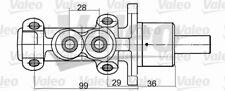 NEU Hauptbremszylinder Valeo 350707 f. Renault 21 Kasten S48 B48 Espace II J S63