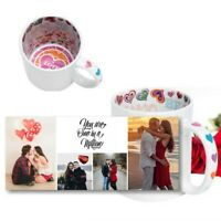Personalised Collage 4 Photos Mug With Message I Love You Inside