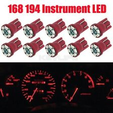 10x Red T10 Wedge 6-SMD LED Dashboard Instrument Panel Indicator Light Bulb
