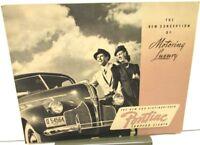 1940 Pontiac Torpedo Eight Sedan Sport Coupe Sales Brochure Original