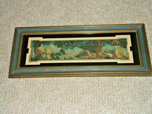 1917 Original Frame ~ Maxfield Parrish ~ RUBAIYAT ~ C.A.Crane Co. Cleveland Ohio