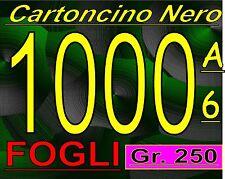 OFFERTA 1000 FOGLI DI CARTA CARTONCINO NERO LISCIO 250 GRAMMI RILEGATURA  A6