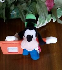 Walt Disney Goofy plush picture frame Mickey Mouse Friends holds wallet size New