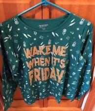 Arizona Girls Plus XXL 20.5 Green Sparkly Shirt