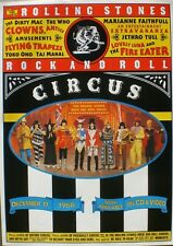 """ROLLING STONES """"ROCK N' ROLL CIRCUS"""" HOLLAND PROMO POSTER FOR DVD RELEASE"""