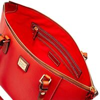 Dooney and Bourke Maxine Salmon Tasseled Pebbled Leather Handbag Bag New
