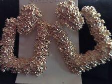BIG ROSE GOLD GEOMETRIC STATEMENT BOHO DANGLE EARRINGS PARTY WEAR  ZARA STYLE