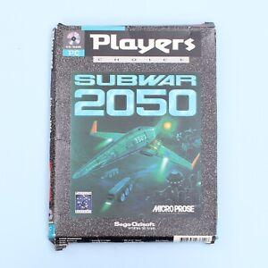 Subwar 2050 CD-ROM Game for PC [Micro Prose] w/ Box & Manual