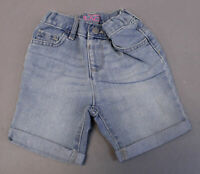 The Children's Place Girl's Roll Cuff Denim Stretch Shorts TM8 Blue Size 3T NWT