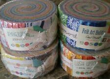 """Jelly Rolls - MODA - 40 x 2.5"""" Strips - Brighter Colours - 100% Cotton"""