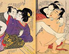 "Erotic SHUNGA Japanese Art Prints • HQ Digitally Restored • 11x14"" Non Fade"