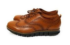 Cole Haan ZeroGrand Wingtip Oxford Mens Shoes British Tan Java Leather Size 9.5