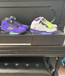 Jordan 5 Alternate Bel Air AND Alternate Grape Size 11 Deadstock