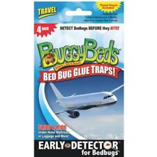 Sealed 4-Pack Buggy Beds Travel Bed Bug Glue Trap Detector Travel Pouch Included