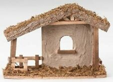 """Fontanini 5 Inch Scale """"10.5"""" Stucco Stable ~ # 50556"""" ~ Great Gift Idea"""