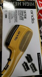 ANDIS CERAMIC IONIC STYLER 1875W HAIR DRYER + 3 Attachments DUAL VOLTAGE HS-2