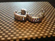 Round Cubic Zirconia Leverback Fine Gemstone Earrings