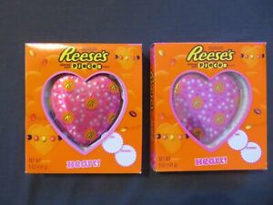 (2) Count Lot Of Reese's Peanut Butter Hearts Stuffed With Pieces 5 Oz Each *O