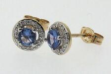 Tanzanite 9 Carat Yellow Gold Fine Earrings