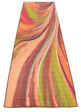 Abstract Rainbow Waves Slip Skid Resistant Rubber Backing Runner Rug 3' x 10'