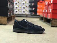 Nike Flex 2017 RN Mens Running Shoes Low Top Triple Black 898457 005 NEW All Szs