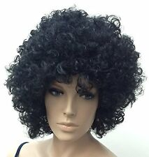 Black Thick Curly Female Afro Style Fancy Dress  Wig. UK Dispatch