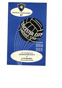 Leicester City v Liverpool Winners 1964 - 1965 FA Cup 6th round