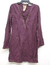NEW Da-Nang Women's Summer Dress Shirt Dress Long Sleeves EGGPL CVG1102123 XS