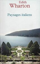 PAYSAGES ITALIENS - EDITH WARTON