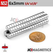 "6mm x 3mm 1/4""x1/8"" N52 Strong Disc Rare Earth Neodymium Magnet 50 100 1000 pcs"