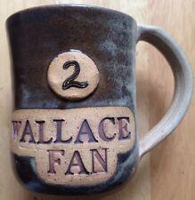 Wallace Fan Coffee Mug, Rusty Wallace #2 Nascar Car, Hand Thrown by Car, Vintage